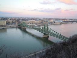 Liberty Bridge seen from the Gellert hill