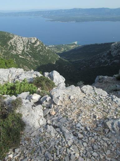 The Zlatini Rat beach seen from the top of Vidova Gora hill. Brac island, Croatia, 2014