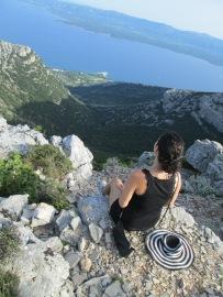 Me on top of Vidova Gora hill, Brac Island, Croatia, 2014