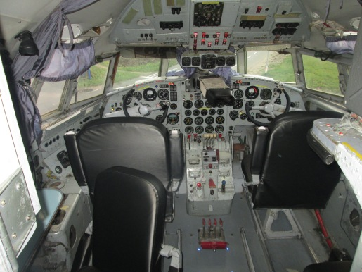 The cockpit remained intact, so guests can play pilot for a day