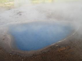 Geothermal pool in Geysir, Iceland, 2015.